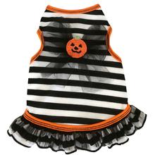 Pumpkin Striped Tank Dog Dress - Black