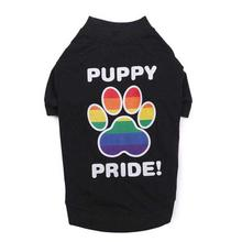 Puppy Pride Dog T-Shirt - Black