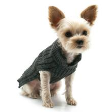 PuppyPAWer Basic Turtleneck Dog Sweater - Charcoal