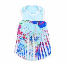 PuppyPAWer Hawaii Pleated Dog Dress by Dogo - Blue