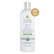 Pure and Natural Pet 2-in-1 Grain-Free Organic Dog Shampoo & Conditioner - Lavender & Mint
