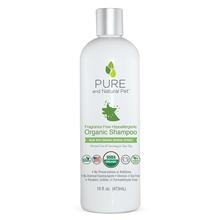 Pure and Natural Pet Fragrance-Free Hypoallergenic Organic Shampoo for Dogs