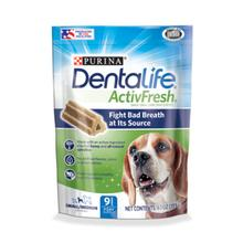 Purina Dentalife Activfresh Daily Oral Care Dog Supplements - Small/Medium