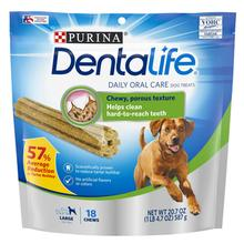 Purina Dentalife Daily Oral Care Dog Treats - Large