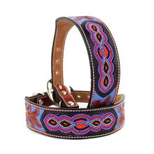 Purple Navajo Beaded Dog Collar by MadCow
