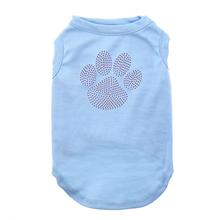Purple Paw Rhinestud Dog Shirt - Baby Blue