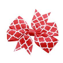 Quatrefoil Dog Bow - Red