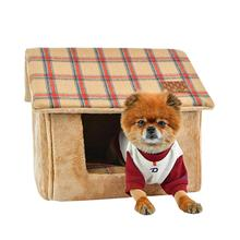 Quincy House Dog Bed By Puppia - Beige
