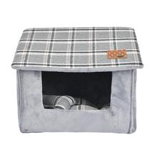 Quincy House Dog Bed By Puppia - Grey