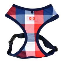 Quinn Plaid Dog Harness by Puppia - Navy