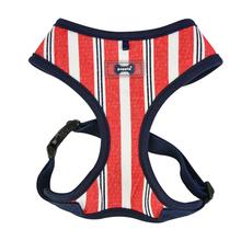 Zorion Striped Dog Harness by Puppia - Navy