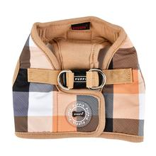Quinn Plaid Vest Dog Harness by Puppia - Beige