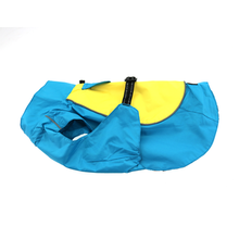 Dog Raincoat Body Wrap by Doggie Design - Blue and Yellow