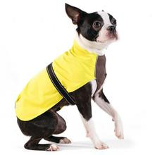 Rain Paw Dog Raincoat by Gold Paw - Yellow/Graphite