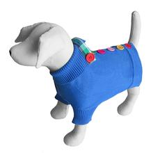 Rainbow Button Dog Sweater by Beverly Hills Dog - Blue