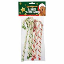 Ranch Rewards Holiday Rawhide Candy Cane Dog Treats