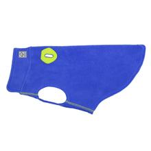 RC Pet Baseline Fleece Dog Pullover - Electric Blue and Lime