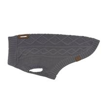 RC Pets Cable Dog Sweater - Charcoal