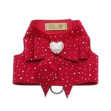 Tail Bow Heart Red Bailey Dog Harness by Susan Lanci