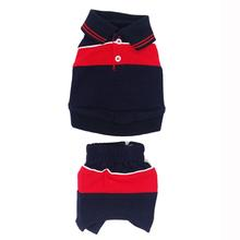 Red and Blue Dog Polo Outfit Set