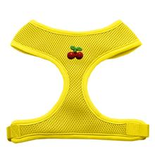 Red Cherry Chipper Dog Harness - Yellow