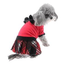 Red Plaid Velvet Jumper by Hip Doggie