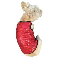 Red Vixen Sequined Dog Tank by The Dog Squad