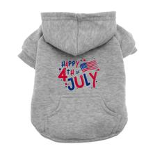 Happy 4th of July Dog Hoodie - Gray