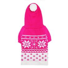 Reese Dog Sweater Hoodie by Pooch Outfitters - Pink