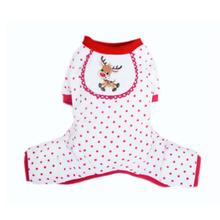 Reindeer Design Dog Pajamas - Red
