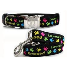 Rescue Me Dog Collar and Leash Set by Diva Dog