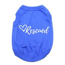 Rescued Dog Shirt - Blue