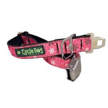 Retro Flowers Metal Latch Dog Collar by Cycle Dog - Hot Pink