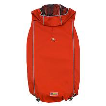 Reversible Elasto-Fit Dog Raincoat - Scarlet Red