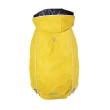 Reversible Plaid Elasto-Fit Dog Raincoat - Yellow