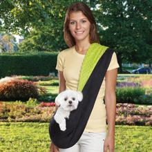 Reversible Sling Dog Carrier - Green/Black