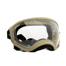Rex Specs Dog Goggles - Coyote Tan with Clear Lens