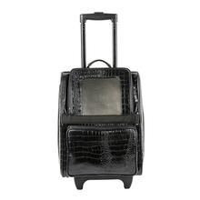Rio Rolling Pet Backpack Carrier - Black Croco