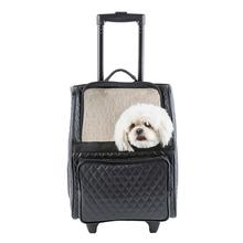 Rio Rolling Quilted Luxe Dog Carrier Backpack - Black