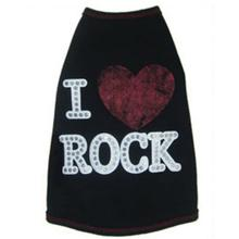 I Luv Rock Dog Shirt by Ruffluv NYC