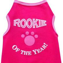 Rookie Of The Year Dog Tank - Hot Pink