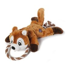 Ropez Gone Wild Dog Toy - Chipmunk