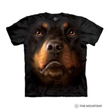 Rottweiler Face Human T-Shirt by The Mountain