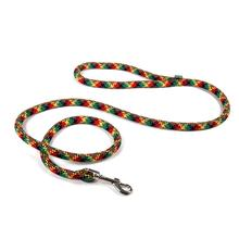 Round Braided Multicolor Dog Leash by Yellow Dog - Rasta