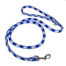 Round Braided Team Colors Dog Leash by Yellow Dog - Blue and Silver