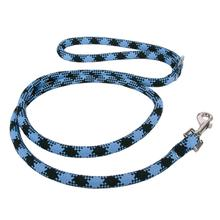 Round Braided Team Colors Dog Leash by Yellow Dog - Light Blue and Black