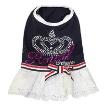 Royal Crown Dog Dress by Dobaz - Navy