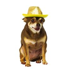 Rubies Sequin Fedora Dog Hat - Gold