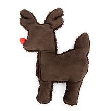 Ruff-N-Tuff Reindeer Holiday Dog Toy by West Paw - Chocolate
