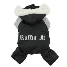 Ruffin It Snowsuit by Doggie Design - Black and Gray